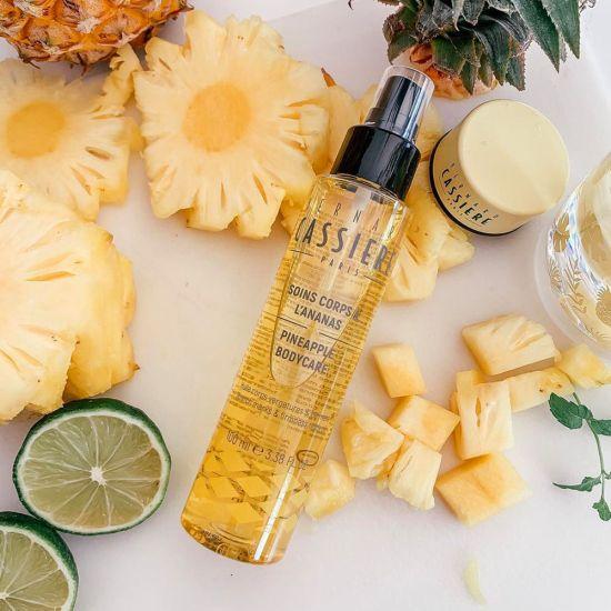 huile corps vergeture ananas